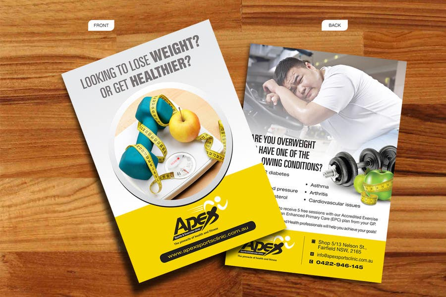 entry 39 by decorusads for design a small flyer for weight loss to