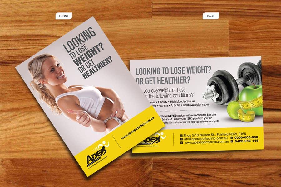 Inscrição nº                                         47                                      do Concurso para                                         Design a small flyer for weight loss to leave at shop counters