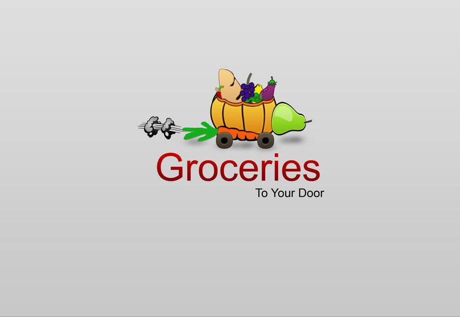Entri Kontes #285 untukLogo Design for Groceries To Your Door
