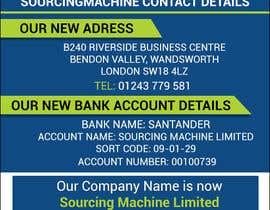 Nro 16 kilpailuun Design a Flyer - Change company name and bank details käyttäjältä dymetrios