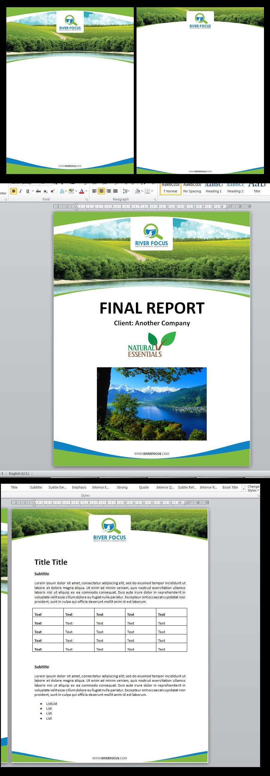 design cover page and word report template lancer 10 for design cover page and word report template by csoxa