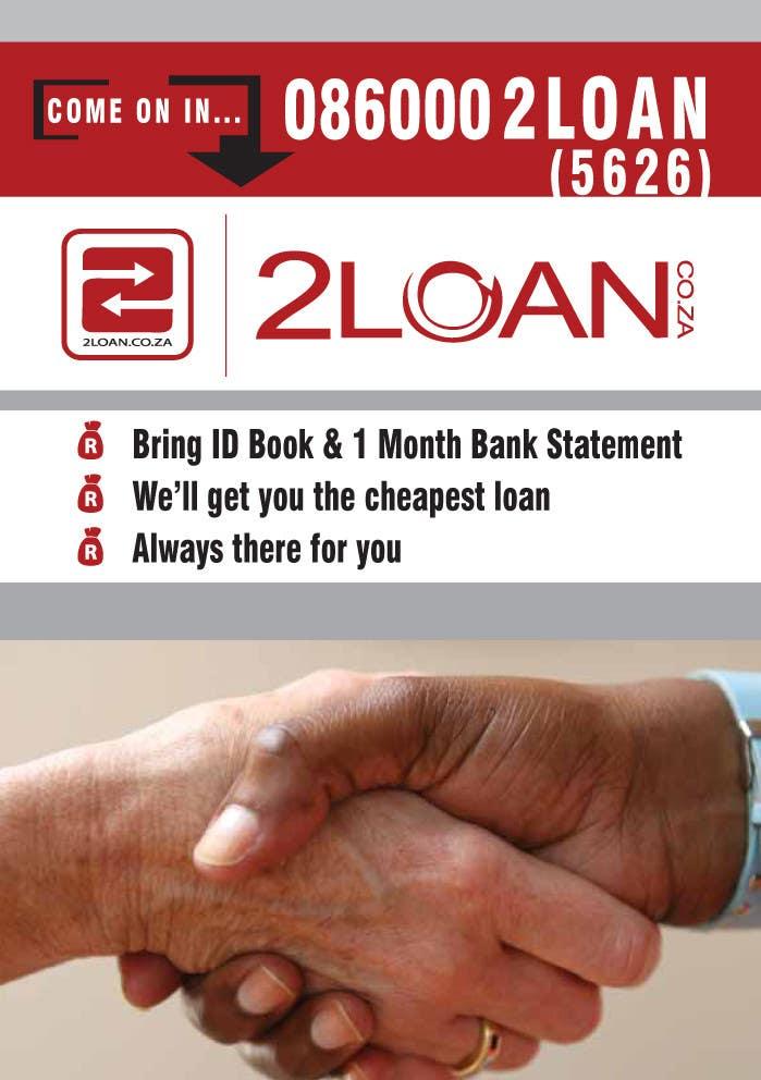 Bài tham dự cuộc thi #                                        68                                      cho                                         Advertisement Design for 2Loan.co.za Shopfront Mockup & Marketing Material Design
