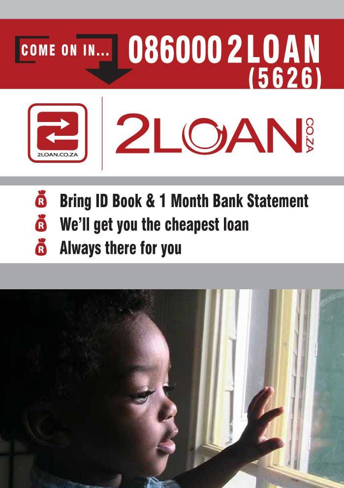 Bài tham dự cuộc thi #                                        70                                      cho                                         Advertisement Design for 2Loan.co.za Shopfront Mockup & Marketing Material Design