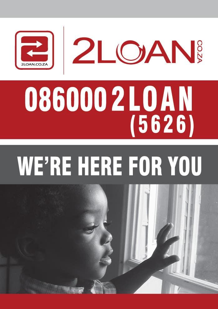 Bài tham dự cuộc thi #                                        71                                      cho                                         Advertisement Design for 2Loan.co.za Shopfront Mockup & Marketing Material Design