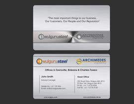 #80 untuk Business Card Design for Wulguru Group - incorporates Wulguru Steel & Archimedes Engineering oleh lihia