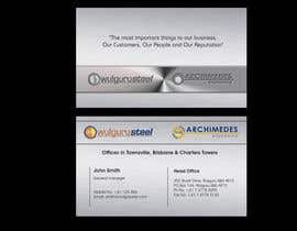 #57 untuk Business Card Design for Wulguru Group - incorporates Wulguru Steel & Archimedes Engineering oleh lihia