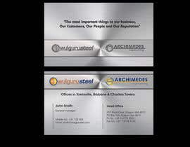 #64 untuk Business Card Design for Wulguru Group - incorporates Wulguru Steel & Archimedes Engineering oleh lihia