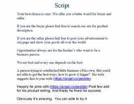 #6 untuk Write a brief script for a 1-2 minute crowd funding video oleh shawond7