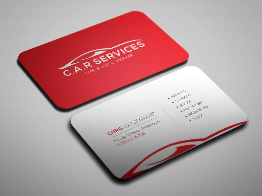 Entry #32 by OviRaj35 for Design car mechanic business card | Freelancer