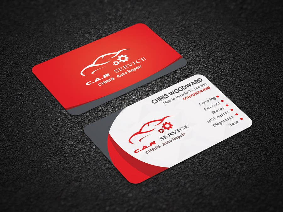 Entry 86 By Sifatdesigner For Design Car Mechanic Business Card