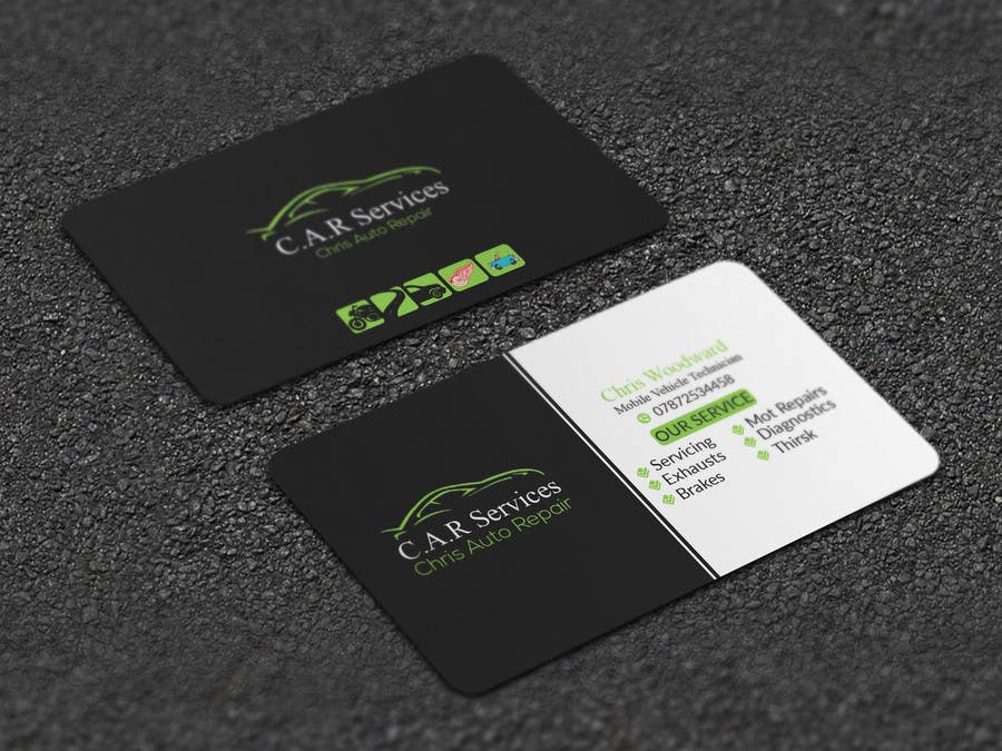 Entry #55 by Artspixel for Design car mechanic business card ...