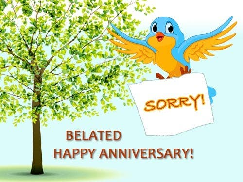 Entry 12 by shantadeep for design belated anniversary flash ecard belated anniversary m4hsunfo
