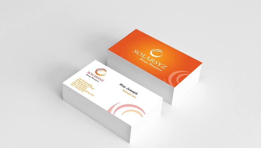 Inscrição nº                                         123                                      do Concurso para                                         Business Card Design for SolarSyz