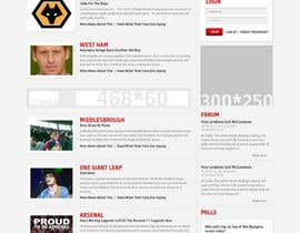 nº 22 pour Website Design for FansOnline.net Ltd par creativeideas83