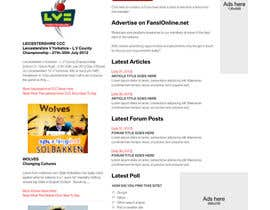nº 6 pour Website Design for FansOnline.net Ltd par gerardway