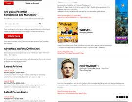 nº 30 pour Website Design for FansOnline.net Ltd par gerardway