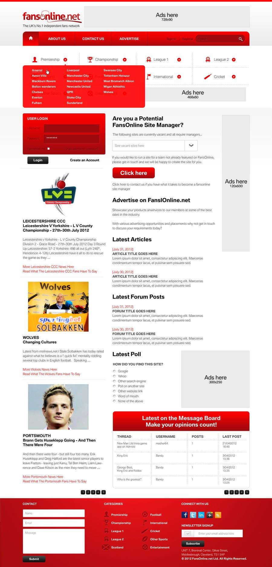 Bài tham dự cuộc thi #                                        7                                      cho                                         Website Design for FansOnline.net Ltd
