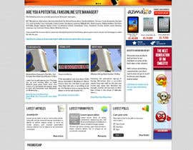 nº 24 pour Website Design for FansOnline.net Ltd par techwise