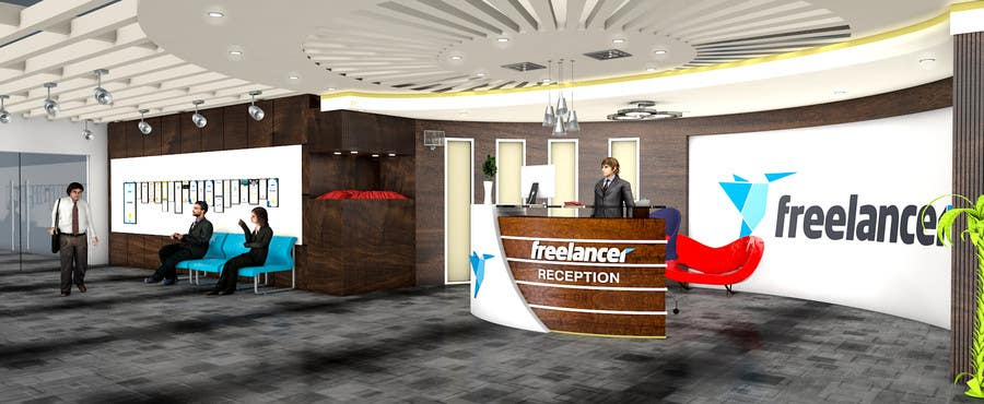Design of office Classic Contest Entry 21 For 3d Design Of Freelancer Office Reception Area Designs From Space Entry 21 By Fbpromoter2 For 3d Design Of Freelancer Office