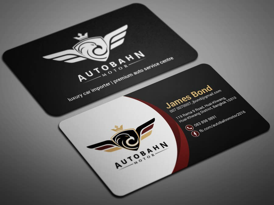 Entry #9 by smartghart for Business card for prestige car showroom ...