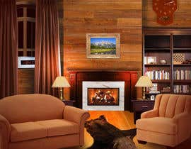 #24 for Transform a bad hand drawing into a quality graphic-Two Living Rooms (2 styles:Log Cabin and Modern) by doarnora
