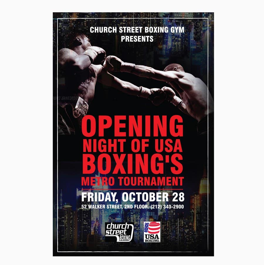 How To Design A Boxing Poster