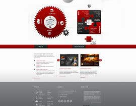 #5 for Website home page (DESIGN ONLY, no implementation required), including custom vector graphic creation. by Wecraft