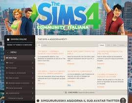 aminou1 tarafından Design a Logo and background for The Sims 4 thesims4.it için no 52
