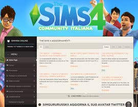 aminou1 tarafından Design a Logo and background for The Sims 4 thesims4.it için no 54