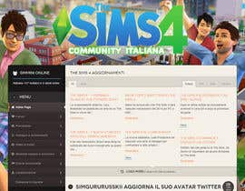 aminou1 tarafından Design a Logo and background for The Sims 4 thesims4.it için no 55