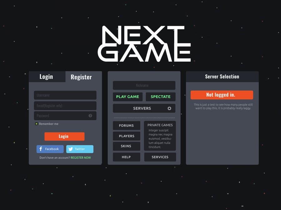 Entry By Tanveerk For Design A Html Game Menu Page - Game menu design