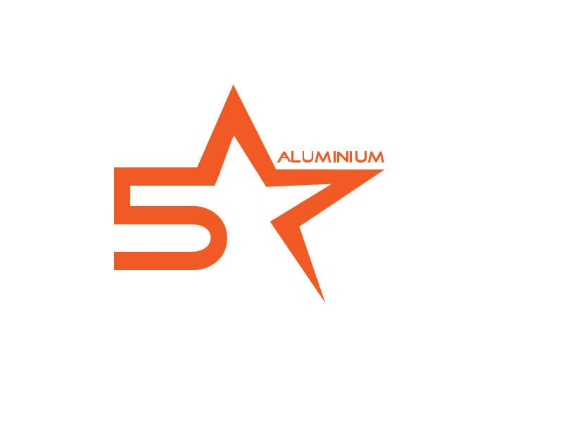 logo design 5 star aluminium freelancer