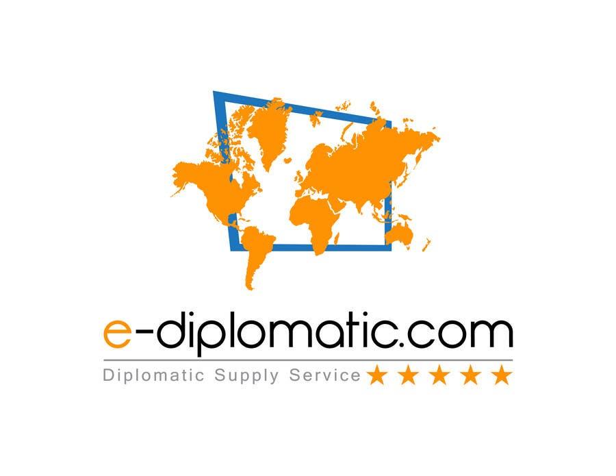 Kilpailutyö #160 kilpailussa Logo Design for online duty free diplomatic shop