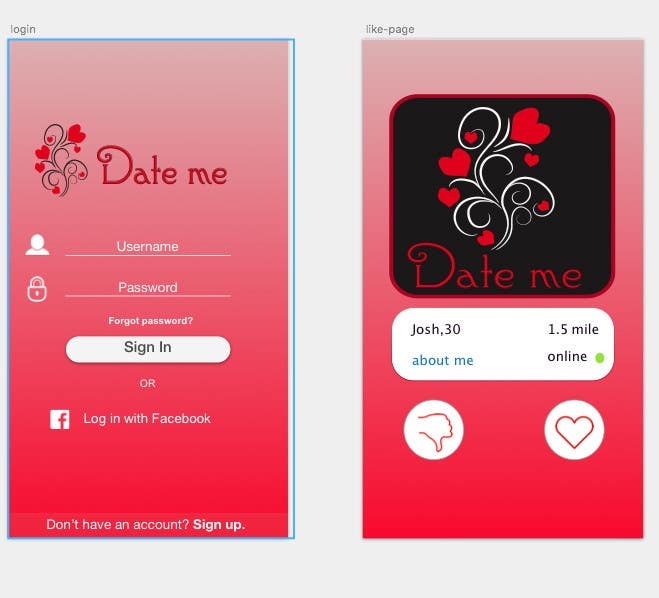 Date me icon app