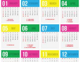 #10 для I need some Graphic Design for a 2017 Calendar от pecastro