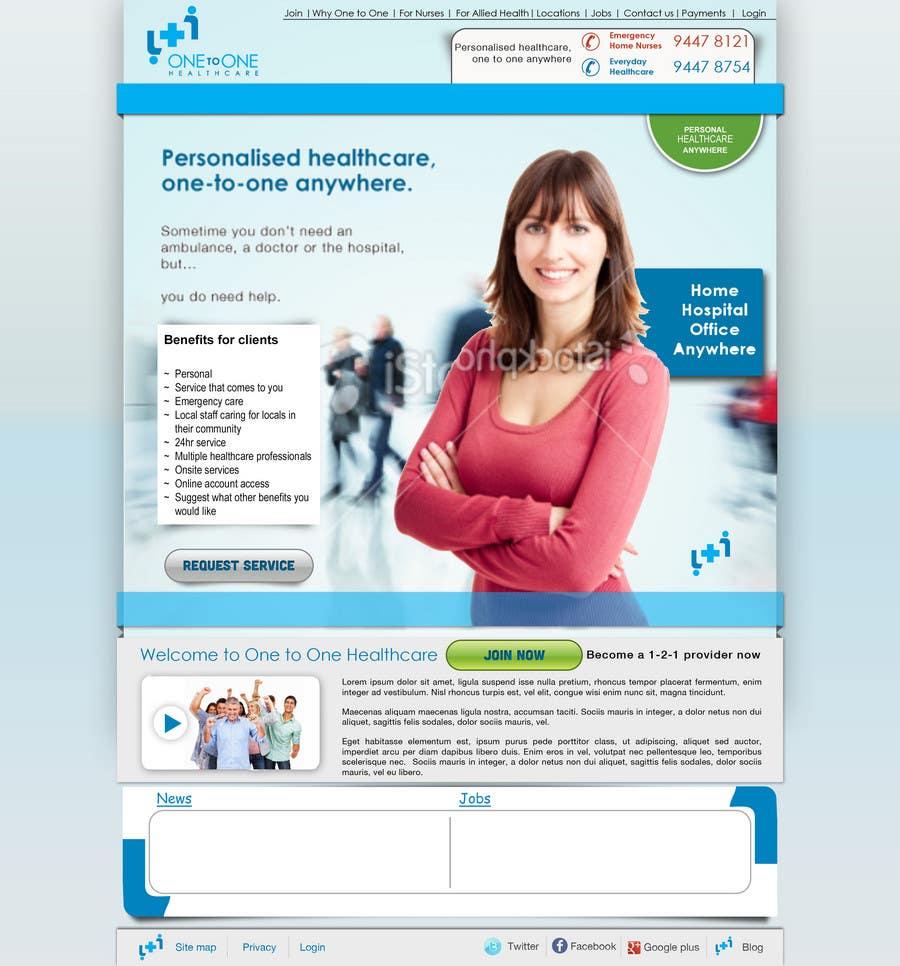 Konkurrenceindlæg #                                        18                                      for                                         WEBPAGE FINISH OFF Design based on already designed layout