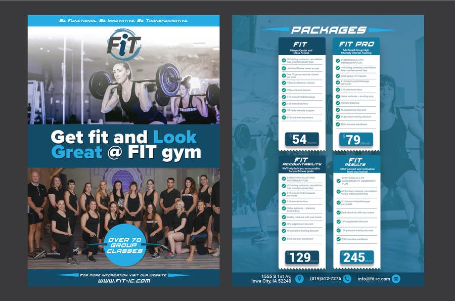 entry 20 by manjegraphics for luxury gym pricing flyer freelancer