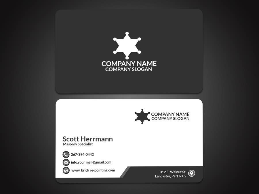 Entry 5 by papri802030 for masonry contractor business card and contest entry 5 for masonry contractor business card and logo colourmoves