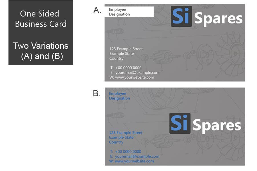 #64 for Business Card Design for SI - Spares by Marlonuk