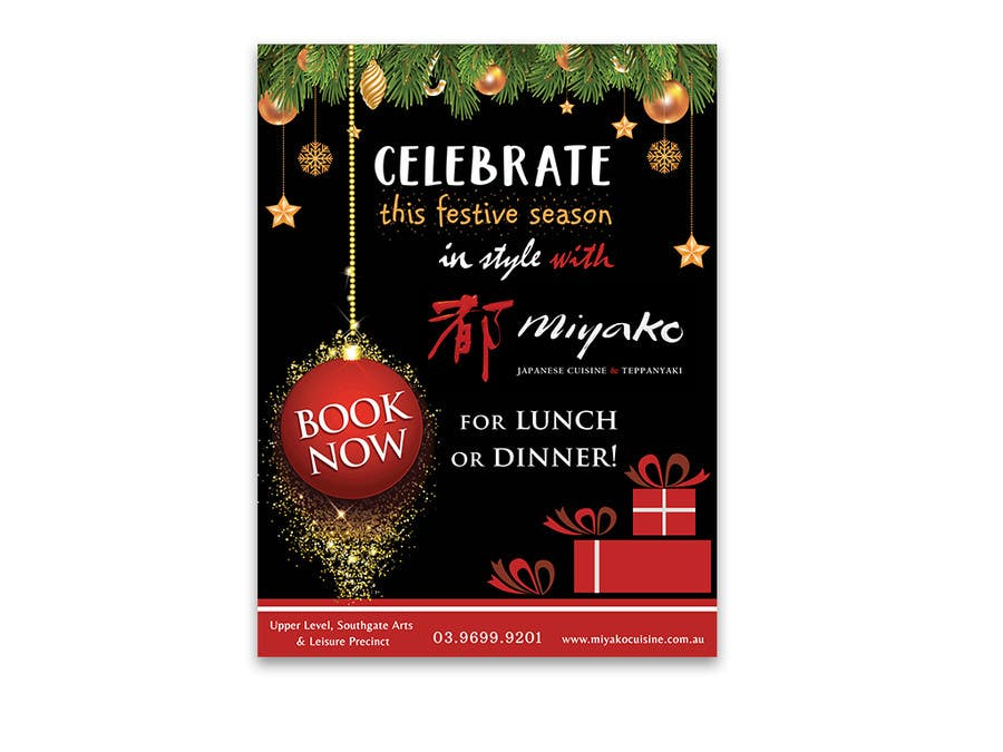 Christmas Restaurant Poster.Entry 6 By Cristinajulien For Design A 30 By 40 Portrait