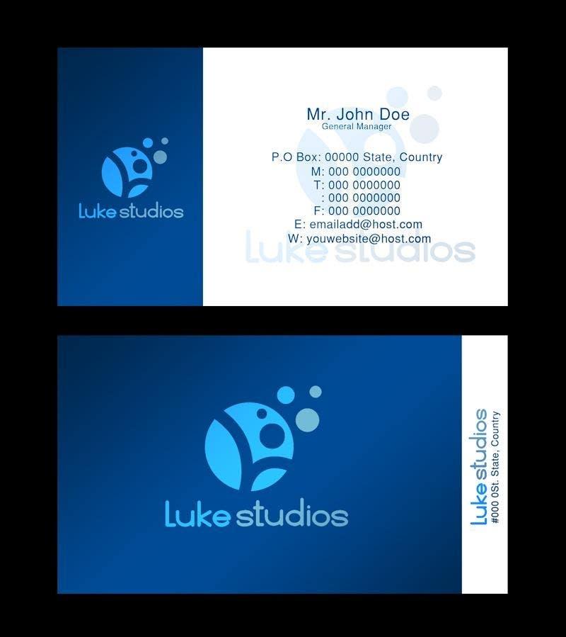 Participación en el concurso Nro.112 para Business Card Design for Luke's Studio