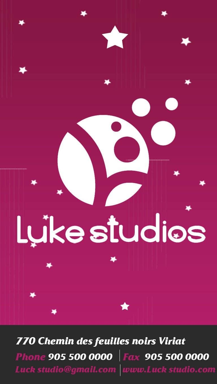 Participación en el concurso Nro.92 para Business Card Design for Luke's Studio