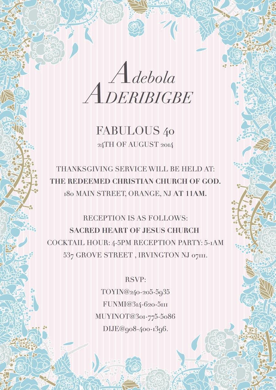 Entry #3 by amystubbington for Design a Flyer for invitation Card ...