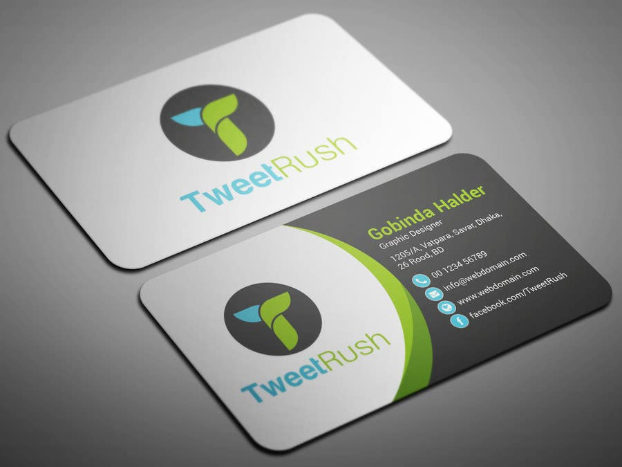 Entry #16 by smartghart for Design some Business Cards For TweetRush ...