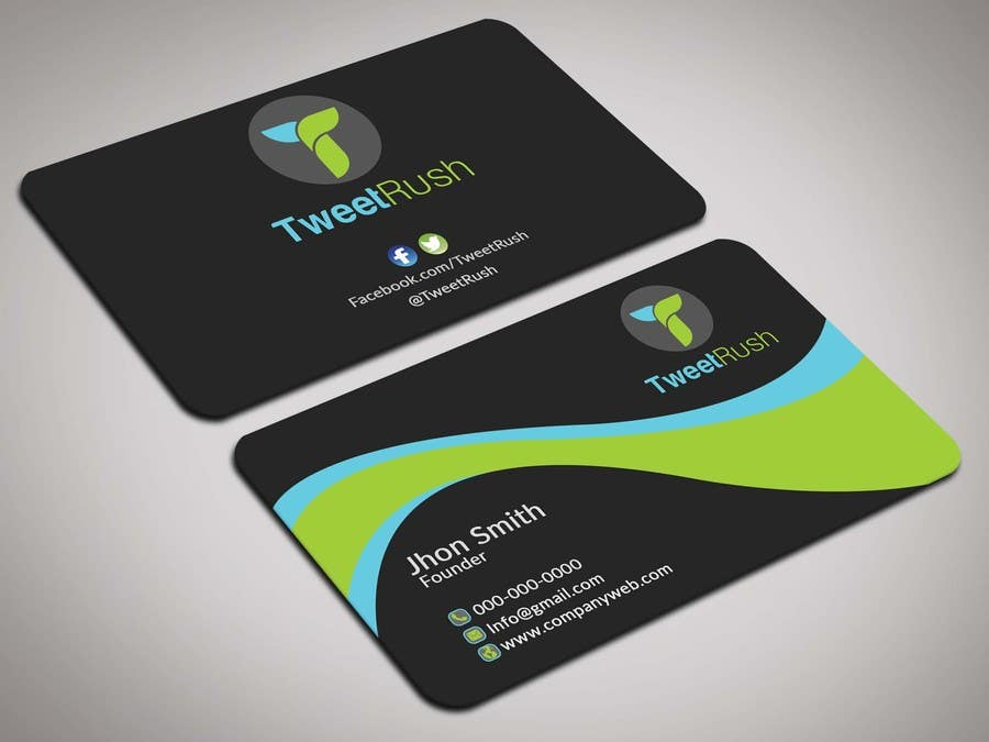 Entry 92 by itopup777 for design some business cards for tweetrush business card colourmoves