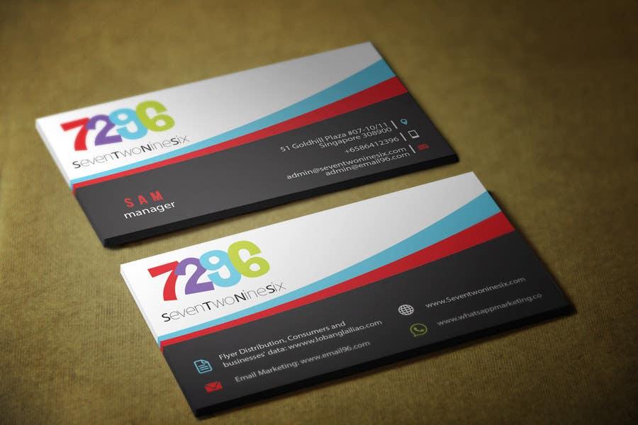 Penyertaan Peraduan #                                        28                                      untuk                                         Design some Business Cards for SevenTwoNineSix