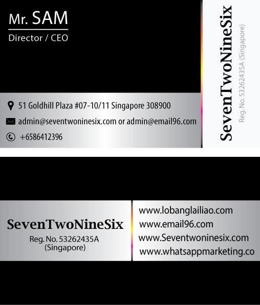 Penyertaan Peraduan #                                        20                                      untuk                                         Design some Business Cards for SevenTwoNineSix