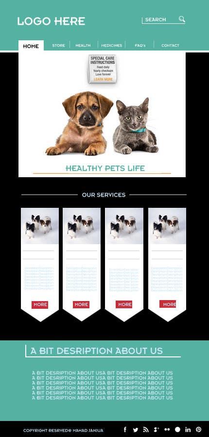 Penyertaan Peraduan #                                        17                                      untuk                                         Design a Wordpress Mockup for Pet Food Website