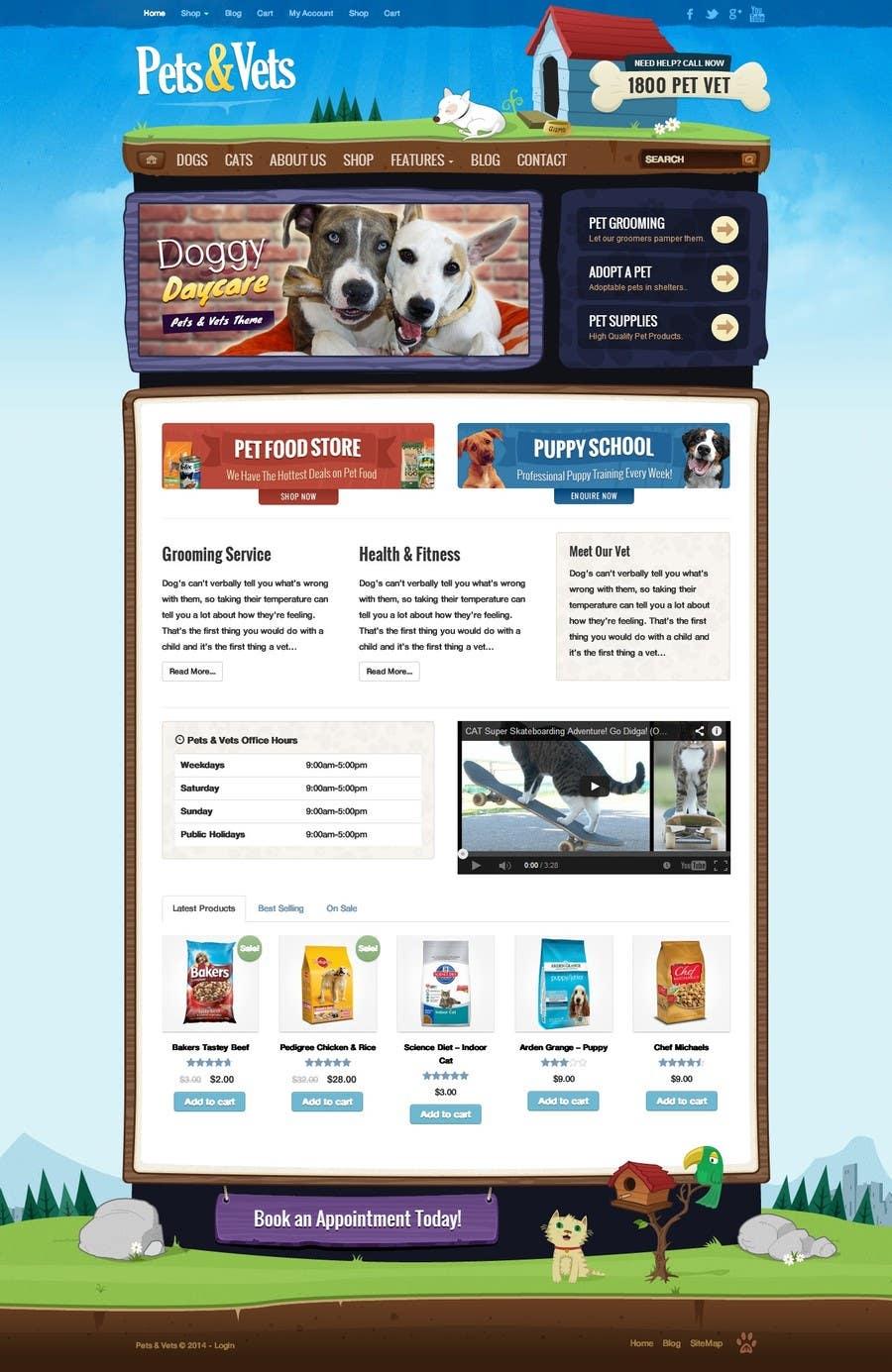 Penyertaan Peraduan #                                        15                                      untuk                                         Design a Wordpress Mockup for Pet Food Website
