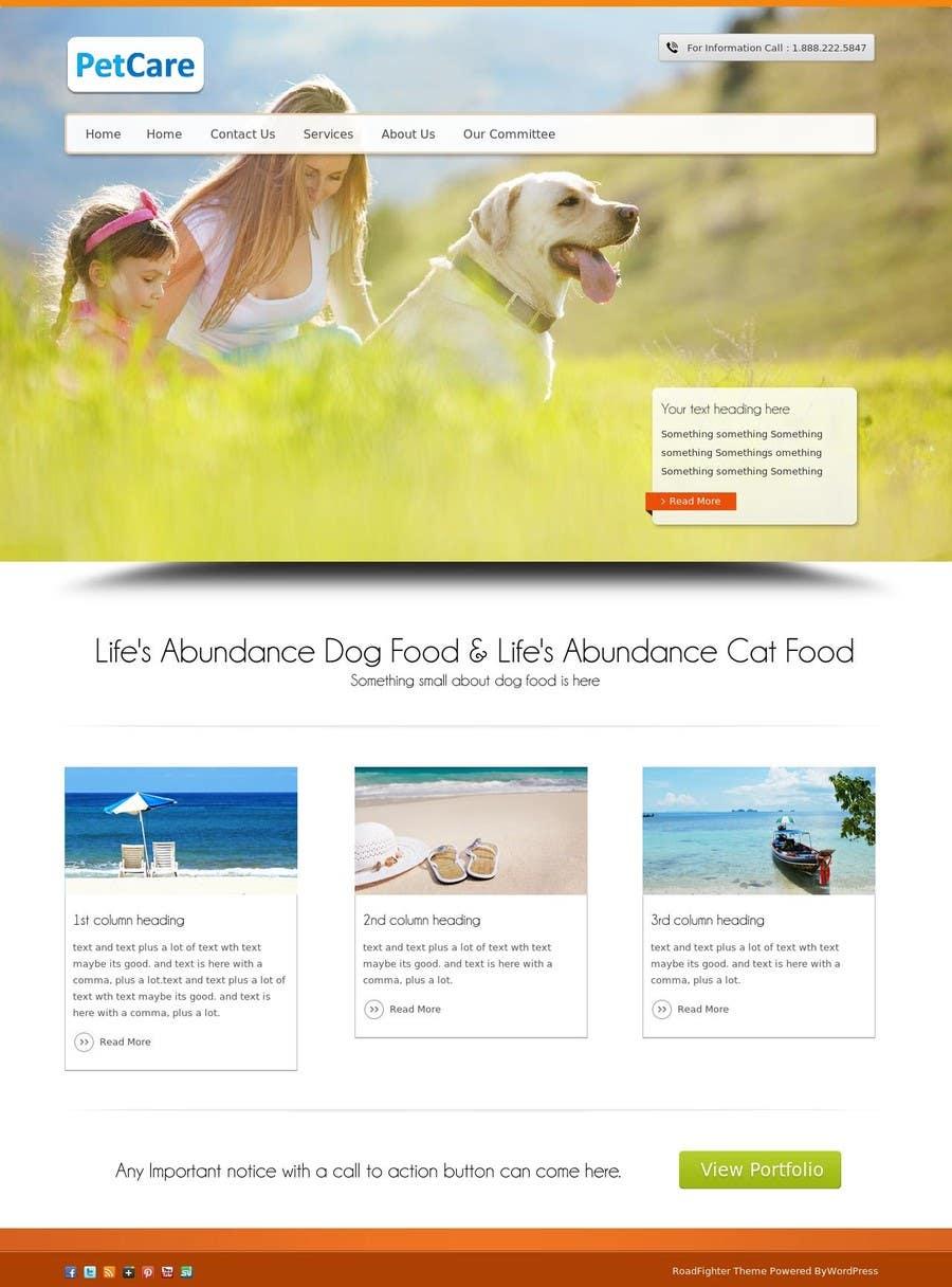 Penyertaan Peraduan #                                        19                                      untuk                                         Design a Wordpress Mockup for Pet Food Website